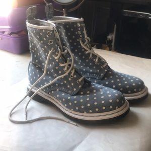 Polka Dot Dr. Marten Fabric Boots